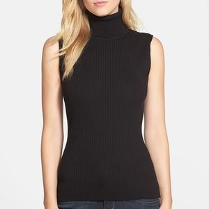 Ribbed Vince Camuto Turtleneck tank top